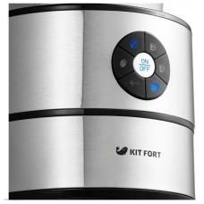 Кофемашина KITFORT КТ-716,  серебристый/черный