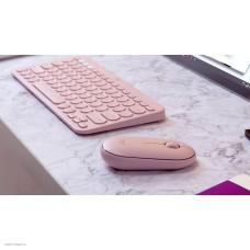 Мышь беспроводная Logitech Pebble M350 розовый