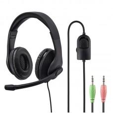 Наушники с микрофоном Hama HS-P200 черный 2м оголовье