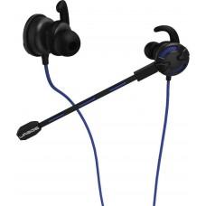 Наушники с микрофоном Hama uRage ChatZ черный/синий 1.6м вкладыши в ушной раковине