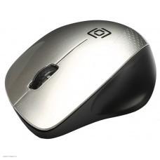 Мышь OKLICK 695MW черный и серебристый [695MW]