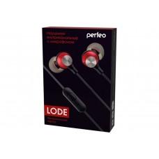 Наушники Perfeo LODE красно-серебристые [PF_A4633]