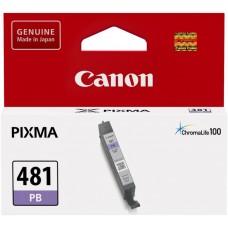 Картридж струйный Canon CLI-481 PB 2102C001 фото голубой для Canon Pixma TS8140TS/TS9140