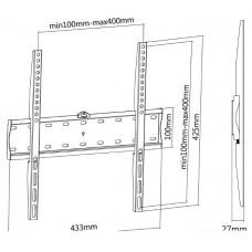 Кронштейн для телевизора Ultramounts UM 813F черный 32