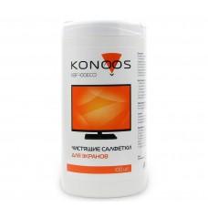 Салфетки для ЖК-экранов Konoos KBF-100ECO в банке, 100 шт.