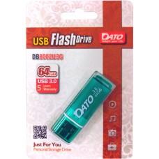 Флеш Диск Dato 64Gb DB8002U3 DB8002U3G-64G USB3.0 зеленый