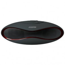Портативная акустика Digma S-10 черный 3W 1.0 BT (SP103B)