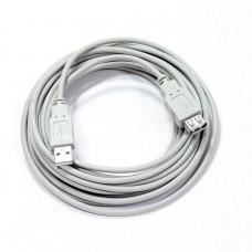 Кабель USB AM/AF v2.0, 5.0m, серый