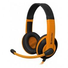 Игровая гарнитура Defender Warhead G-120 черный + оранжевый, кабель 2 м 64099