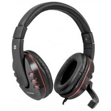 Игровая гарнитура Defender Warhead G-160 черный, кабель 2,5 м 64113