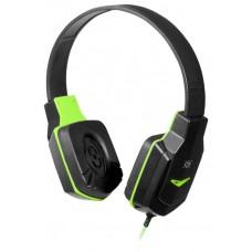 Игровая гарнитура Defender Warhead G-320 черный+зеленый, кабель 1.8 м 64032