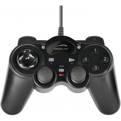 Геймпад SpeedLink ThunderStrike для PC, проводной, черный (SL-6515-BK)