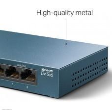Коммутатор TP-LINK LS108G (8xLAN1000 Металлический корпус)