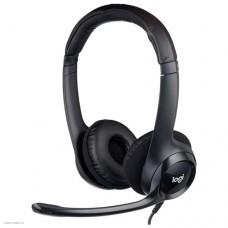 Гарнитура Logitech Headset H390 USB [981-000406]