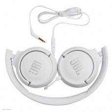 Наушники с микрофоном JBL TUNE500, White [JBLT500WHT]