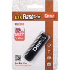 Флеш Диск Dato 32Gb DS2001 DS2001-32G USB2.0 черный