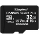 Флеш карта microSDHC 32Gb Class10 Kingston SDCS2/32GBSP CanvSelect Plus w/o adapter