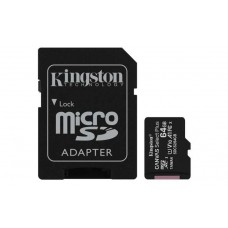Флеш карта microSDHC 64Gb Class10 Kingston SDCS2/64GB CanvSelect Plus + adapter