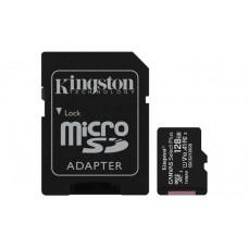 Флеш карта microSDHC 128Gb Class10 Kingston SDCS2/128GB CanvSelect Plus + adapter