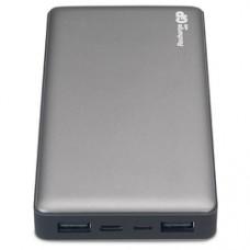 Мобильный аккумулятор GP Portable PowerBank MP15 Li-Pol 15000mAh 2.4A+2.4A+3A серый 2xUSB