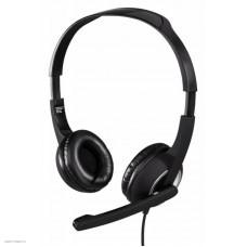 Наушники с микрофоном Hama Essential HS 300 черный/серебристый 2м мониторы оголовье (00053982)