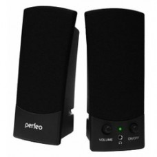 Компьютерная акустика Perfeo UNO 2.0, мощность 2х0,5 Вт (RMS), чёрн, USB  (PF-210)