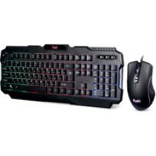 Набор игровой клавиатура+мышь+коврик Smartbuy RUSH Shotgun черный [SBC-307728G-K]