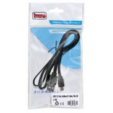 Кабель Buro BHP MICROUSB 1M FLAT micro USB B (m) USB A(m) 1м