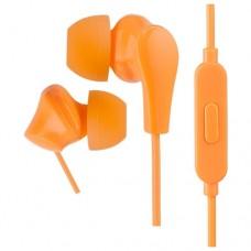 Наушники внутриканальные Perfeo c микрофоном ALPHA оранжевые