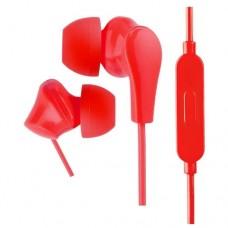Наушники внутриканальные Perfeo c микрофоном ALPHA красные