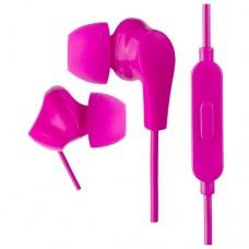 Наушники внутриканальные Perfeo c микрофоном ALPHA розовые