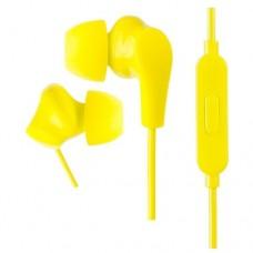 Наушники внутриканальные Perfeo c микрофоном ALPHA желтые
