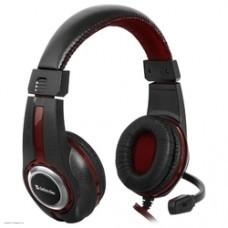 Наушники Defender Warhead G-185 черный + красный, кабель 2 м  [64106]