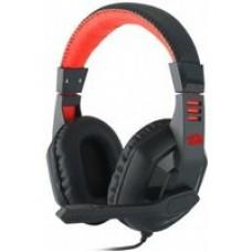 Наушники Defender Ares красный + черный, кабель 2 м Redragon [78343]