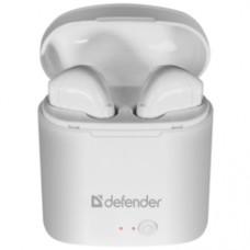 Наушники Defender Twins 630 белый,TWS, Bluetooth [63630]