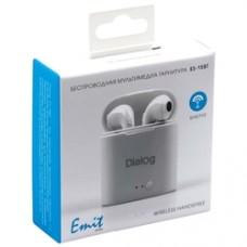Наушники Dialog ES-15BT WHITE Bluetooth с кнопкой ответа для мобильных устройств, белая