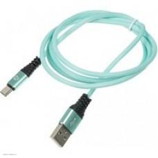 Кабель Digma USB A (m) USB Type-C (m) 1.2м зеленый