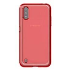 Чехол (клип-кейс) Samsung для Samsung Galaxy A01 araree A cover красный (GP-FPA015KDARR)