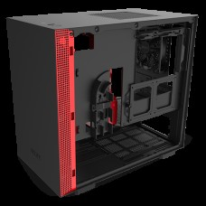 Корпус NZXT CA-H210B-BR H210 Mini ITX Black/Red Chassis with 2x120mm Aer F Case Fans