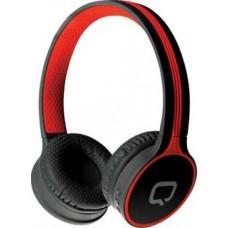 Наушники QUMO Accord 3 (BT-0020/BT-0021) Черно-красный  {накладная,  Bluetooth 4.2, 300  мА-ч, до 6х часов в режиме разговора} [21946]