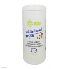 Салфетки Cactus CS-WB075 для маркерных досок туба 75шт влажных