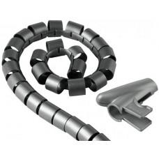 Кабель-органайзер Hama H-20601 1.5м серебристый