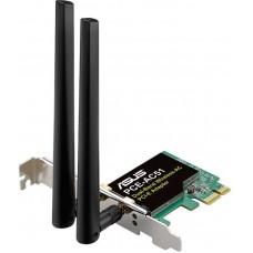 Сетевой адаптер WiFi Asus PCE-AC51 PCI Express (ант.внеш.съем) 2ант.