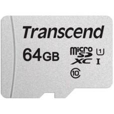 Карта памяти 64Gb MicroSD Transcend (TS64GUSD300S)