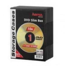 Коробка для CD/DVD Hama 10шт, Slim, черный (H-51181)