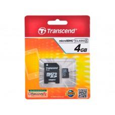 Карта памяти Transcend microSDHC 4 ГБ [TS4GUSDC4]
