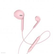 Проводные наушники с микрофоном вкладыши Hoco M55 Memory sound (pink)