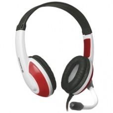 Игровая гарнитура Defender Warhead G-120 красный + белый, кабель 2 м 64098