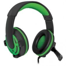 Игровая гарнитура Defender Warhead G-300 зеленый, кабель 2,5 м 64128