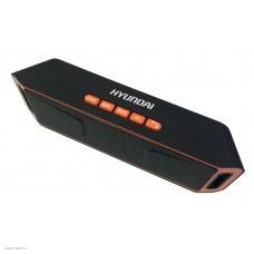Колонка портативная Hyundai H-PAC160 черный/оранжевый 6W 1.0 BT/3.5Jack/USB